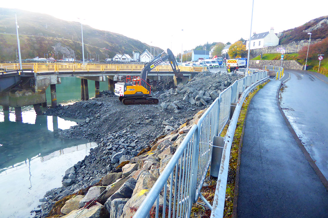 Reclamation work at Tarbert, Isle of Harris